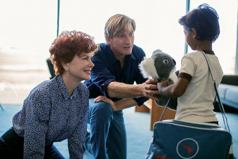 Nicole Kidman, David Wenham and Sunny Pawar star in LION. Photo: Mark Rogers