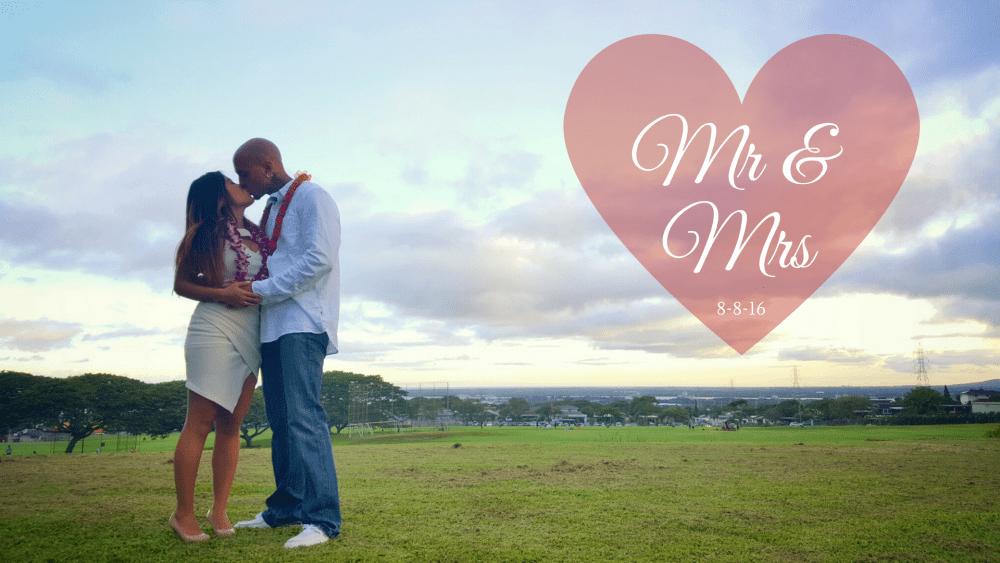 We eloped in Hawaii