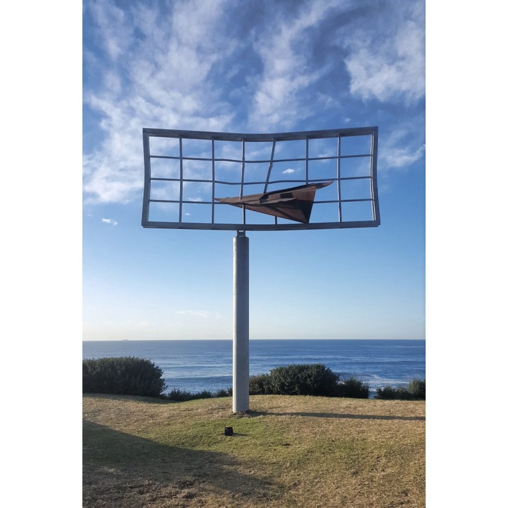 """Signed"" by Jonathan Leahey. Sculpture by the Sea Bondi, image by mztrina.com"