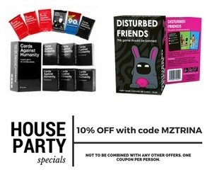 House Party AD - MZTRINA - Get 10% off coupon code voucher